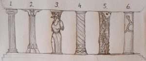 Stirring Abyss: Pillar design sketches